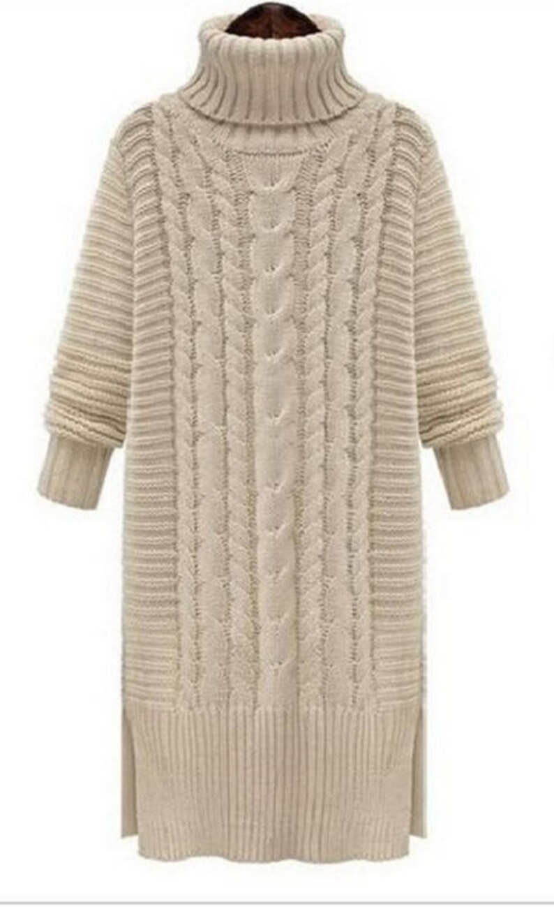 bf9d7ebb612 Knitted dress Cable knit dress Handknit Dress Chunky knit