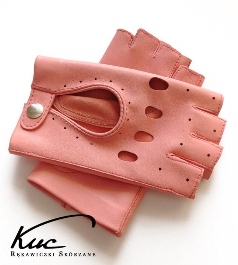 b6006ce24fc82 Leichte rosa Fingerlose Damen Leder Handschuhe Handschuhe