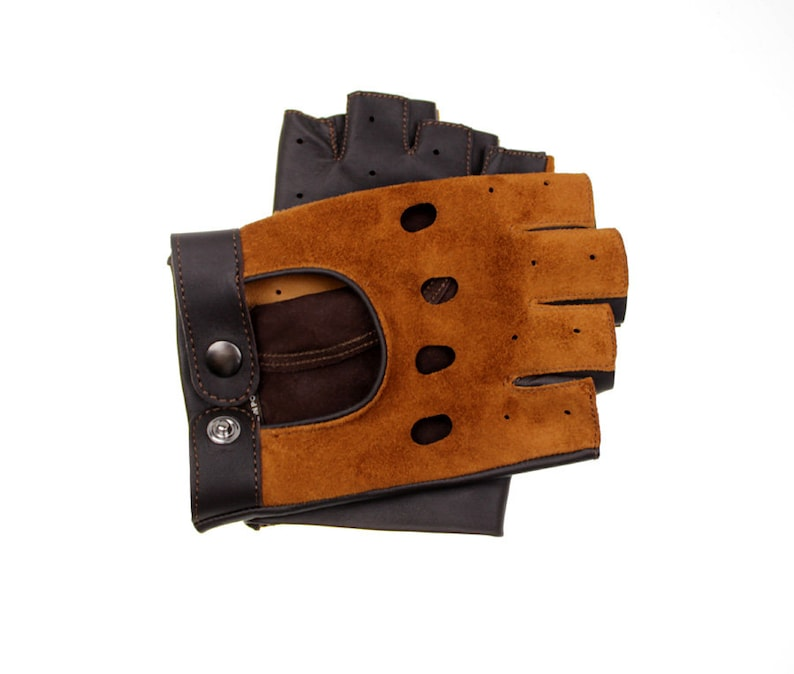 eba861d9882ed Fingerlose Handschuhe italienischen Lamm Nappaleder