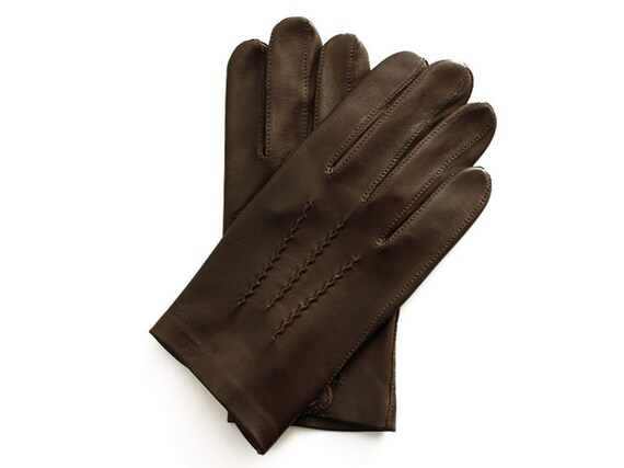 Men/'s Officers Unlined Leather Gloves New