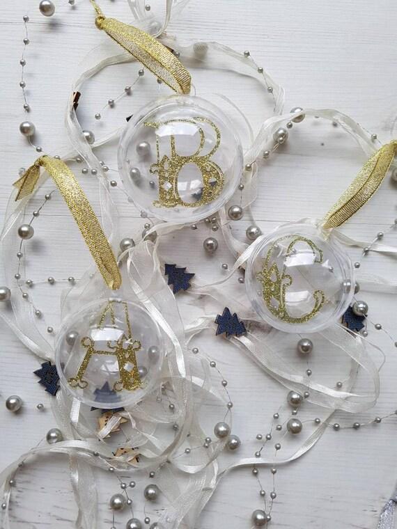 Personalised Letter Bauble, christmas tree ornament, monogram