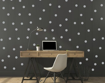 FREE SHIPPING Wall Decal Dots Color Grey Each kit 208. . Nursery Wall Sticker. Homedecor.Kids room Wall Art