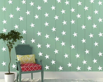 FREE SHIPPING Wall Decal White Stars. 77 Stars. Nursery Wall Decal. Wall Art. Vinyl Wall Decal.