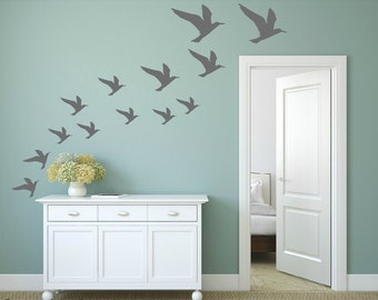 FREE SHIPPING Wall Decal Seagulls Color Gray. Differnt Size. 37 Wall Decal. Nursery Wall Decal. Vinyl Decal. Children Decal. Home Decor.