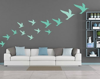 FREE SHIPPING Wall Decal Seagulls 2 Color Of Turquoise . Differnt Size. 37 Wall Decal. Nursery Wall Decal. Vinyl Decal.  Home Decor.
