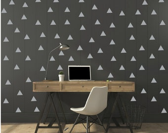 FREE SHIPPING Wall Decal Triangle GRAY, Each Kit 238 . Wall Sticker. Homedecor.Nursery Wall Art.Geometric Wall Decal Kids Wall Decal