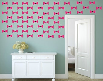 FREE SHIPPING Wall Decal Papillon Color Pink & Black. 60 Wall Decal. Nursery Decal. Vinyl Decal. Home Decor. Housewares.