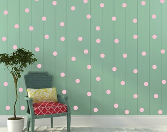 FREE SHIPPING Wall Decal Larg Quantitiy OF Dots 208. Color Pastel Pink. Nursery Wall Sticker. Homedecor.Kids room Wall Art