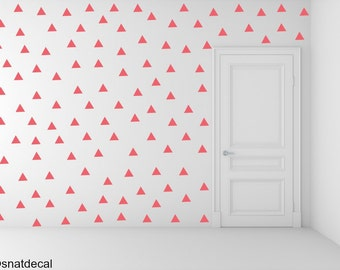 FREE SHIPPING Wall Decal Triangle RED, Each Kit 238. Wall Sticker. Homedecor.Nursery Wall Art.Geometric Wall Decal Kids Wall Decal