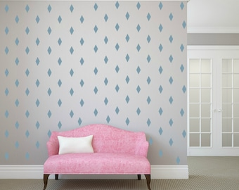 FREE SHIPPING 288 Blue Rhombus Wall Decal ,Nursery Wall decal. Vinyl Wall Decal. Wall Sticker. Kids Room Wall Decal.