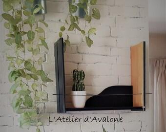 Decorative mural minimalist carbon black shape