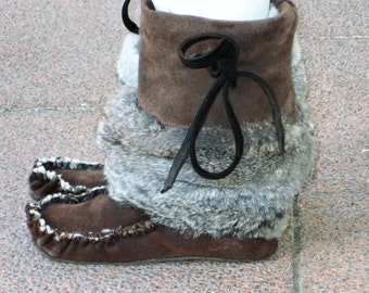 Suede Boots  ( Sheepskin Lined)