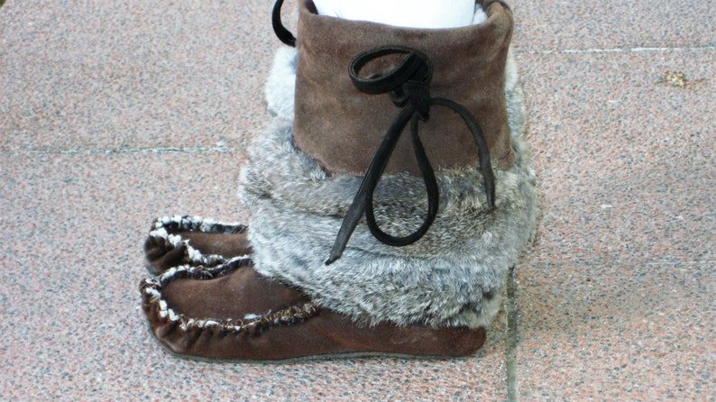 Suede Boots   Sheepskin Lined image 1