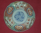 Antique 19th Century Chinese or Japanese Imari Plate Birds and Pine With Bamboo