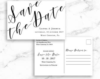 Save The Date Postcard Template Etsy - Editable postcard template