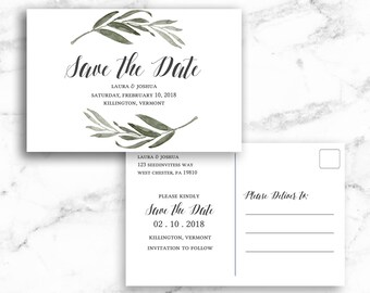 Save The Date Template Postcard Etsy - Save the date text template