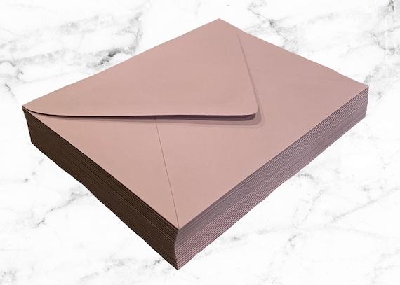25 Rose Pink A7 Envelopes or A1 Envelopes, Dusty Pink Envelope, Pointed Flap, 5x7 Pink Invitation Envelope, Girl Baby Shower