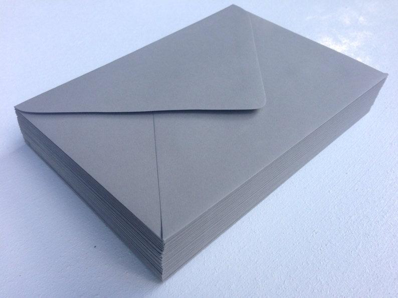 50 A7 Slate Grey 5x7 Invitation or A1 80# Premium Envelope 4Bar Slate Dark Grey Paper Source RSVP Pointed Euro Flap Envelopes