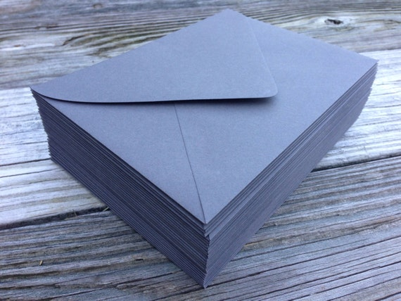 50 A7 Slate Grey 5x7 Invitation Or A1 4bar Rsvp Pointed Euro Etsy