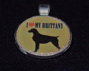 Love my dog - Brittany Spaniel Pendant