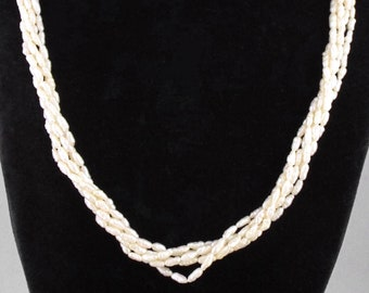 Lovely Vintage Multi Strands Freshwater Pearls Necklace