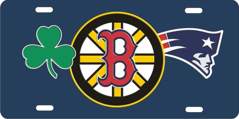 Custom License Plate Boston sports teams combined logo Celtics  e53a7879a6c2