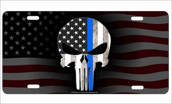 NEW American Waving Thin Red Line Flag Black Beanie Free Shipping! Skull Hat