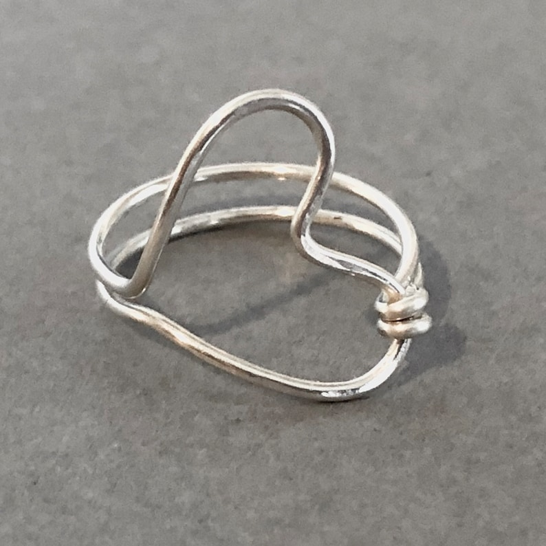 Midi Ring Promise Ring Silver Heart Ring Bridesmaid Gift, Gift for Teen Birthday Gift for Her