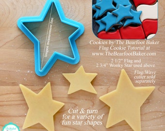 Wonky Star Cookie Cutter and Fondant Cutter
