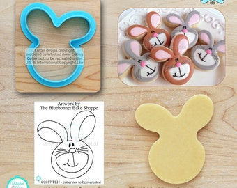 Funny Bunny Cookie Cutter Easter Cookie Cutter & Fondant Cutter Designed by The Bluebonnet Bake Shoppe - **Guideline Sketch to Print Below**