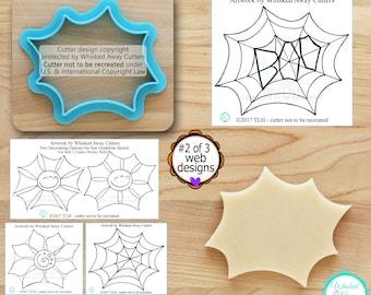 Halloween Web Cutter 2, Wonky Web Cutter, Flower Cutter, Sun Cutter Designed by Whisked Away Cutters - Sketches to Print Below