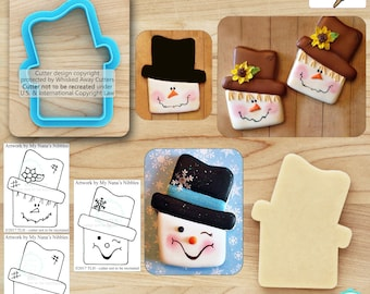 Scarecrow Cutter & Snowman Cutter Designed by My Nana's Nibbles - *Guideline Sketches to Print Below*