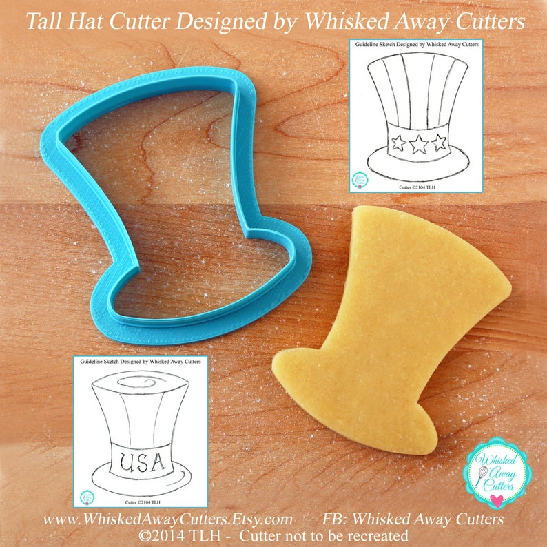 Uncle Sam's Tall Hat Cookie Cutter  St. Patrick's image 0