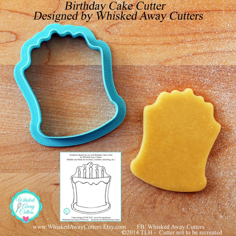 Birthday Cake Cookie Cutter And Fondant Guideline
