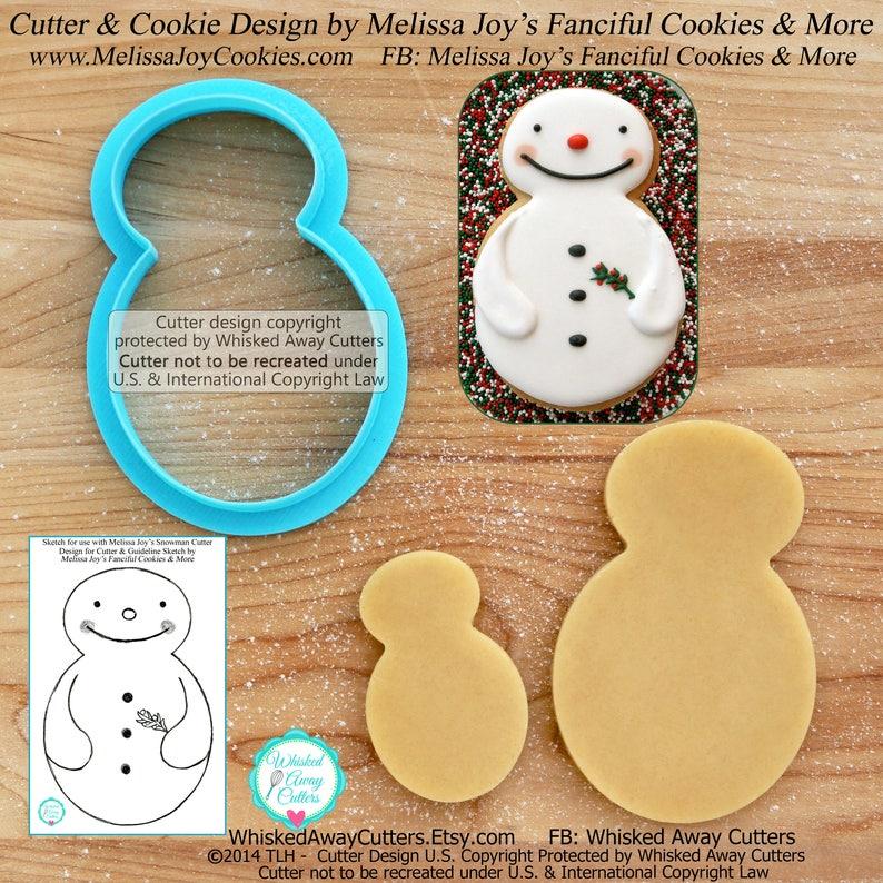 Melissa Joy's Snowman Cookie Cutter and Fondant Cutter image 0
