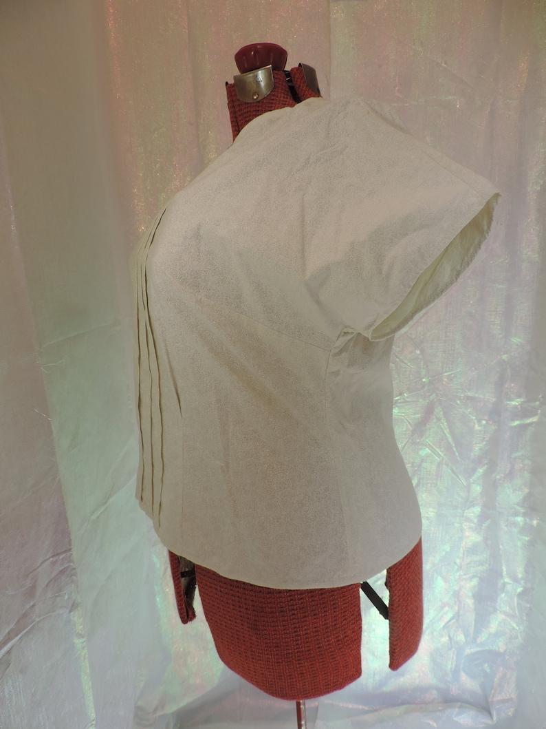 1940s Style Kimono Sleeve Blouse Bust 46 Waist 39