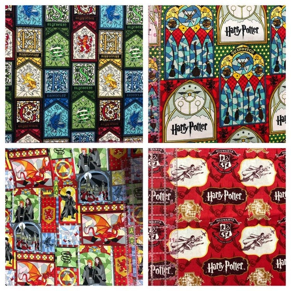 1 2 Yard Harry Potter House Fabric Fabric By The 1 2 Yard