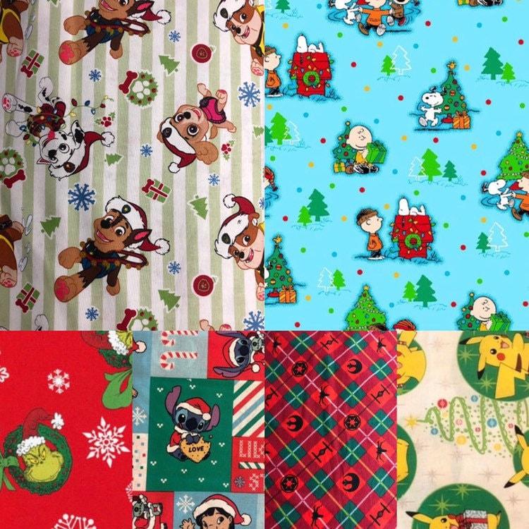1/2 Yard Holiday Cotton Fabric / Grinch Fabric / Star Wars ...