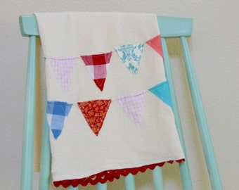 Hand made Country Bunting Towel