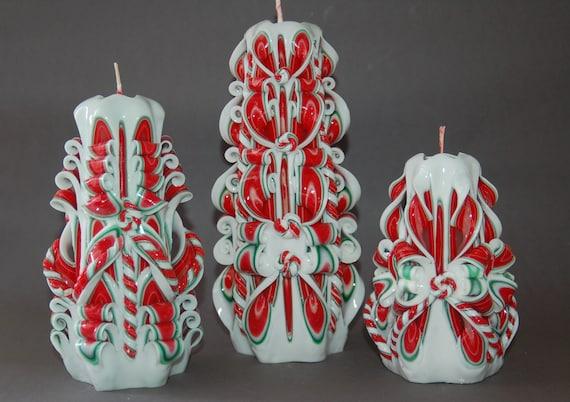 Geschnitzte Kerze 6cm Geschenk  Weinachten Geschenk