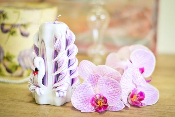 Geschnitzte Kerze Romantische Hochzeit Tisch Herzstück Kerze | Etsy