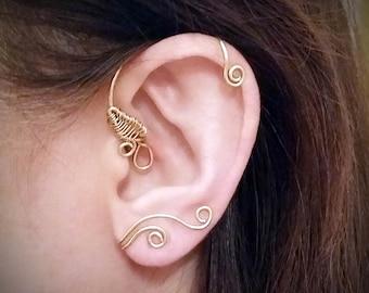 Beauty and the Beast Inspired Ear Cuff, Belles Ear Cuff, Disney Ear Cuff, Ballroom Ear Wrap, Beauty and the Beast Ear Vine, No Piercing Cuff
