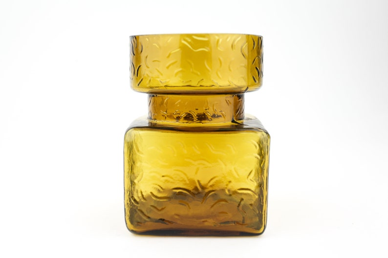 Lasi Oy Pala amber glass Vase By Helena Tynell 1960