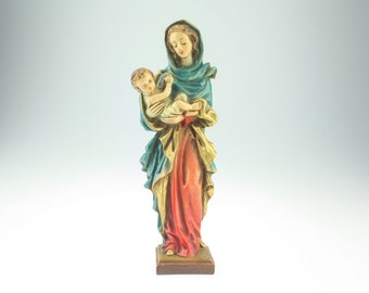 Handcarved flemish Mary with Jesus