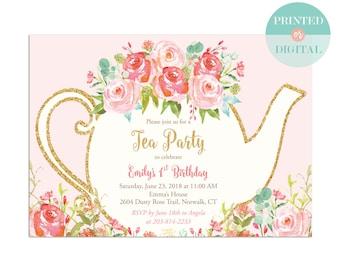 Tea Invitation Etsy