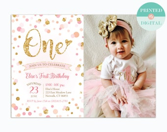 first birthday invitation etsy