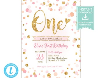 confetti invitation etsy