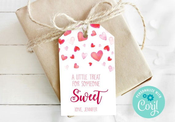 Printable Valentine's Day Treat Tags / Editable Valentines