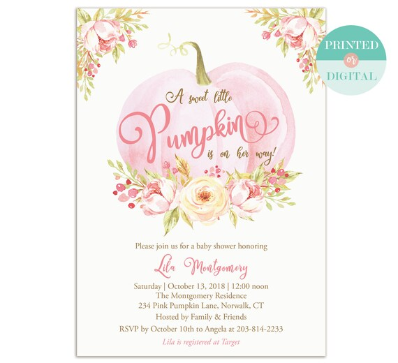 Little pumpkin baby shower invitation girl fall baby shower etsy image 0 filmwisefo