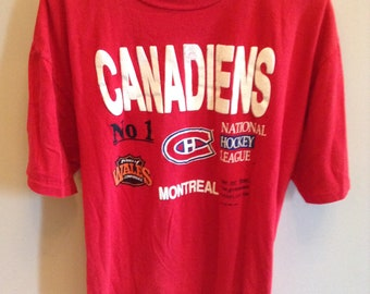 Vintage Montreal Canadiens shirt - 1989 - XL - Prince of Wales Conference -  NHL 59407478a